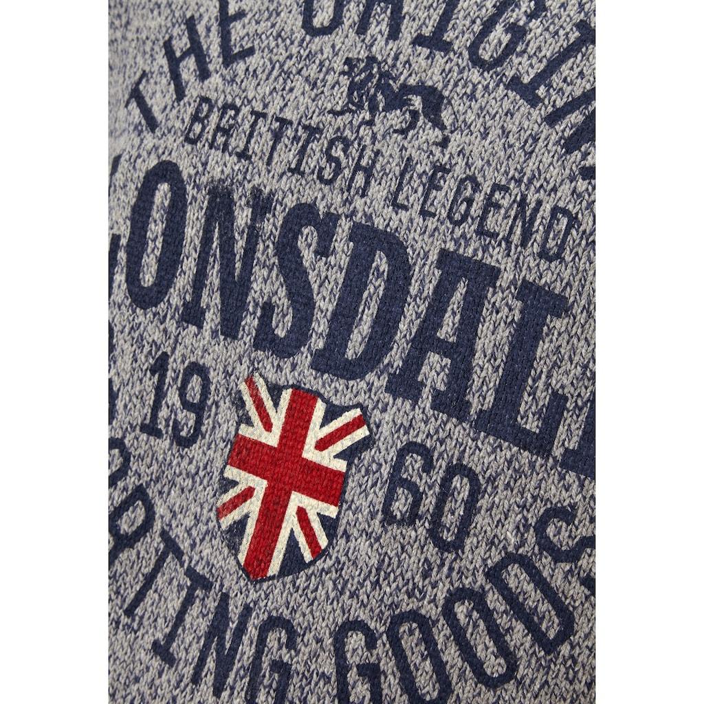 Lonsdale Pullover im Strickdesign
