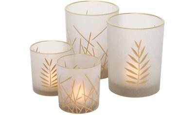 BOLTZE Windlicht »Narino«, aus Glas, Höhe ca. 8 cm und 12 cm kaufen
