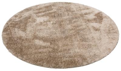 Home affaire Hochflor-Teppich »Malin«, rund, 43 mm Höhe, Besonder weich durch Microfaser, Wohnzimmer kaufen
