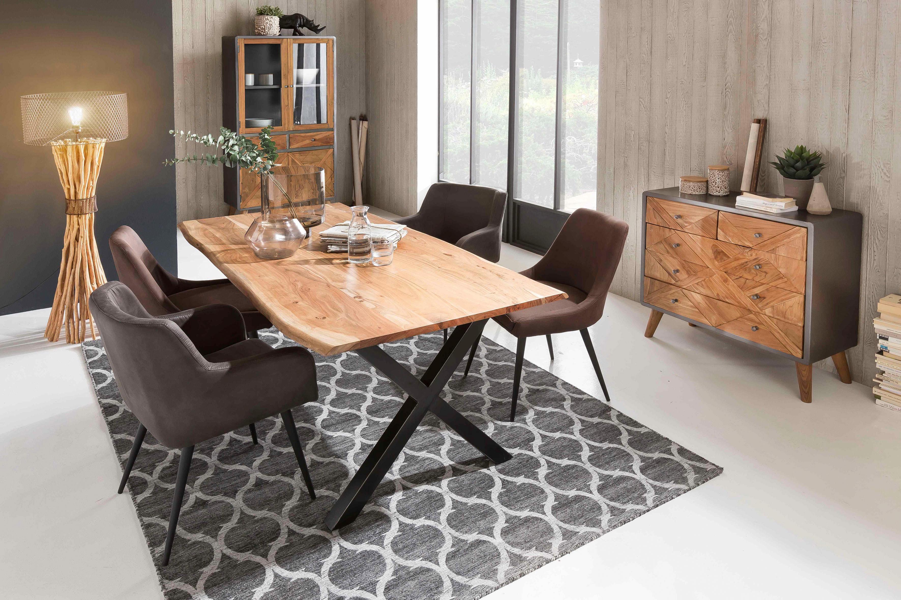 SIT Esstisch »Tops&Tables« aus massiver Akazie, mit Baumkantenoptik