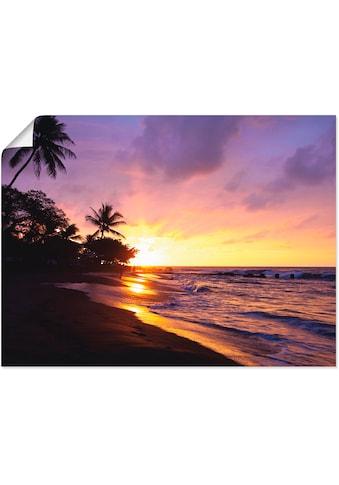 Artland Wandbild »Tropischer Strand«, Sonnenaufgang & -untergang, (1 St.), in vielen... kaufen