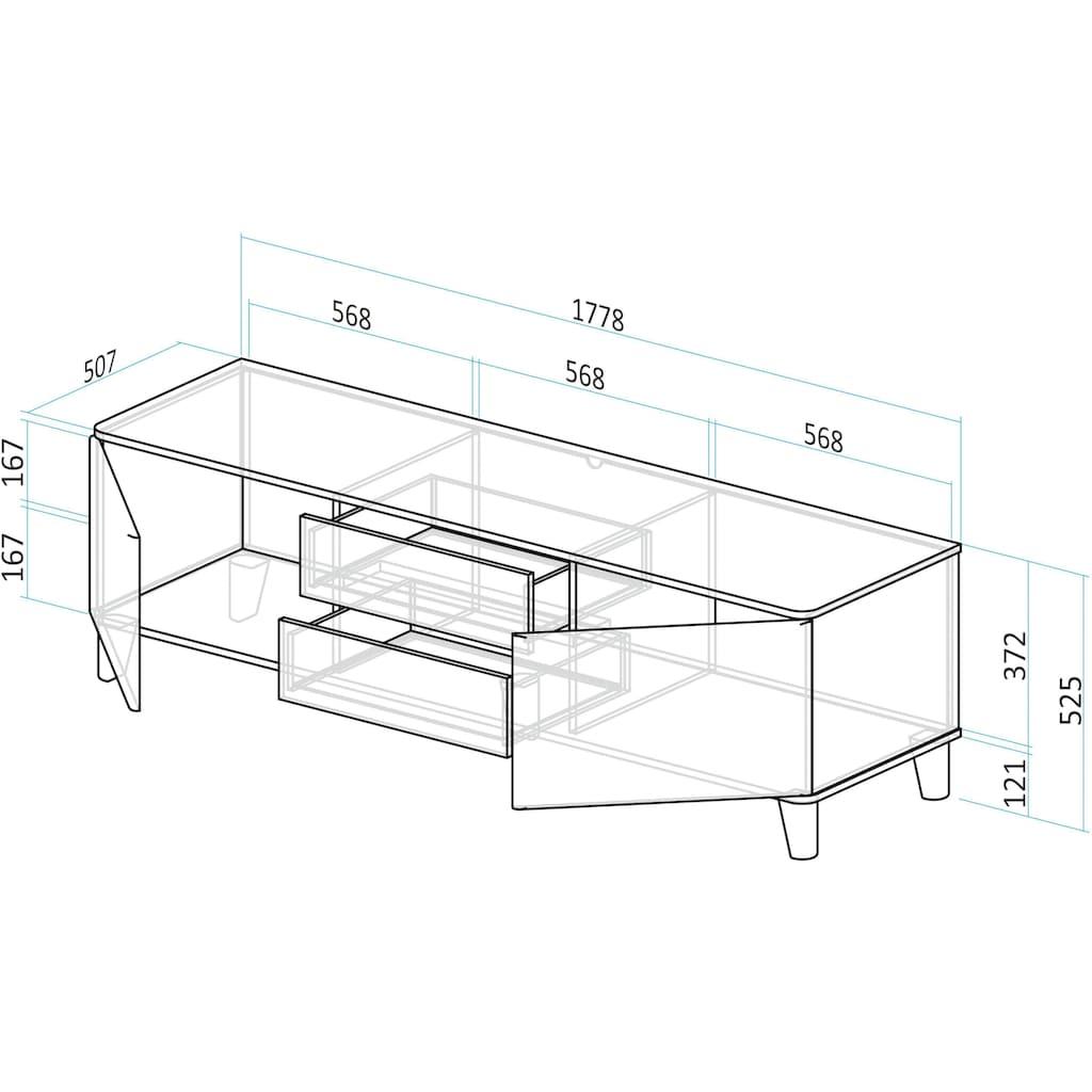 INOSIGN Lowboard »Rula«, 2-türig, 178,5cm breit