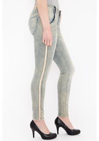 Blue Monkey Skinny-fit-Jeans »Macy 1709«, mit seitlichen Glanzbändern kaufen