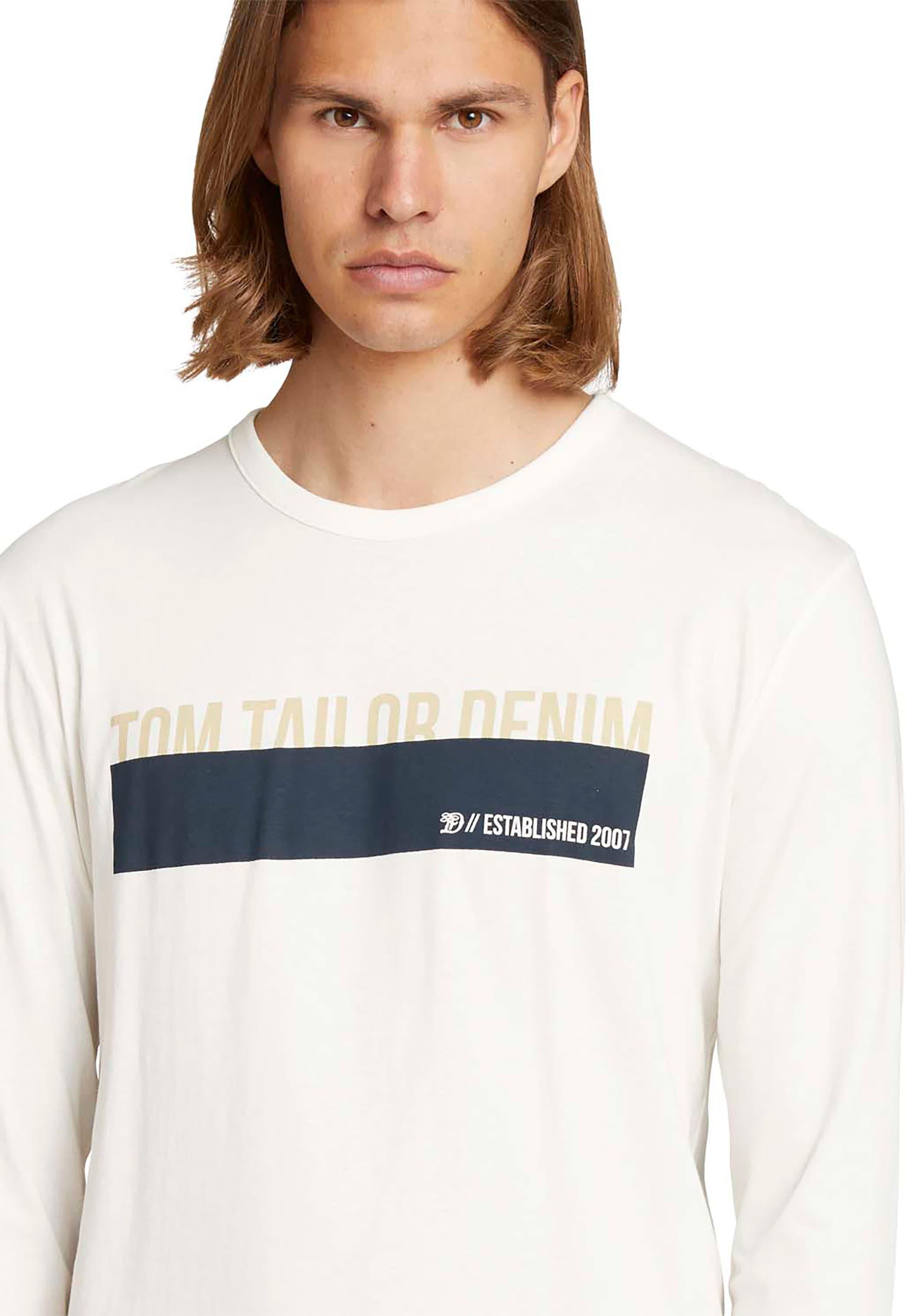tom tailor denim -  Langarmshirt, mit Logodruck