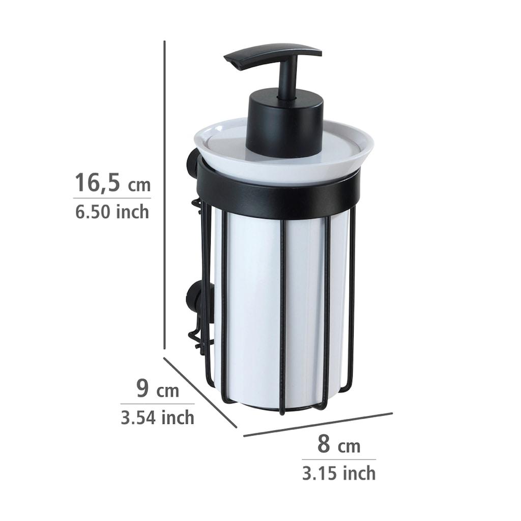 WENKO Seifenspender »Classic Plus Black«, 185 ml, mit hochwertigem Rostschutz