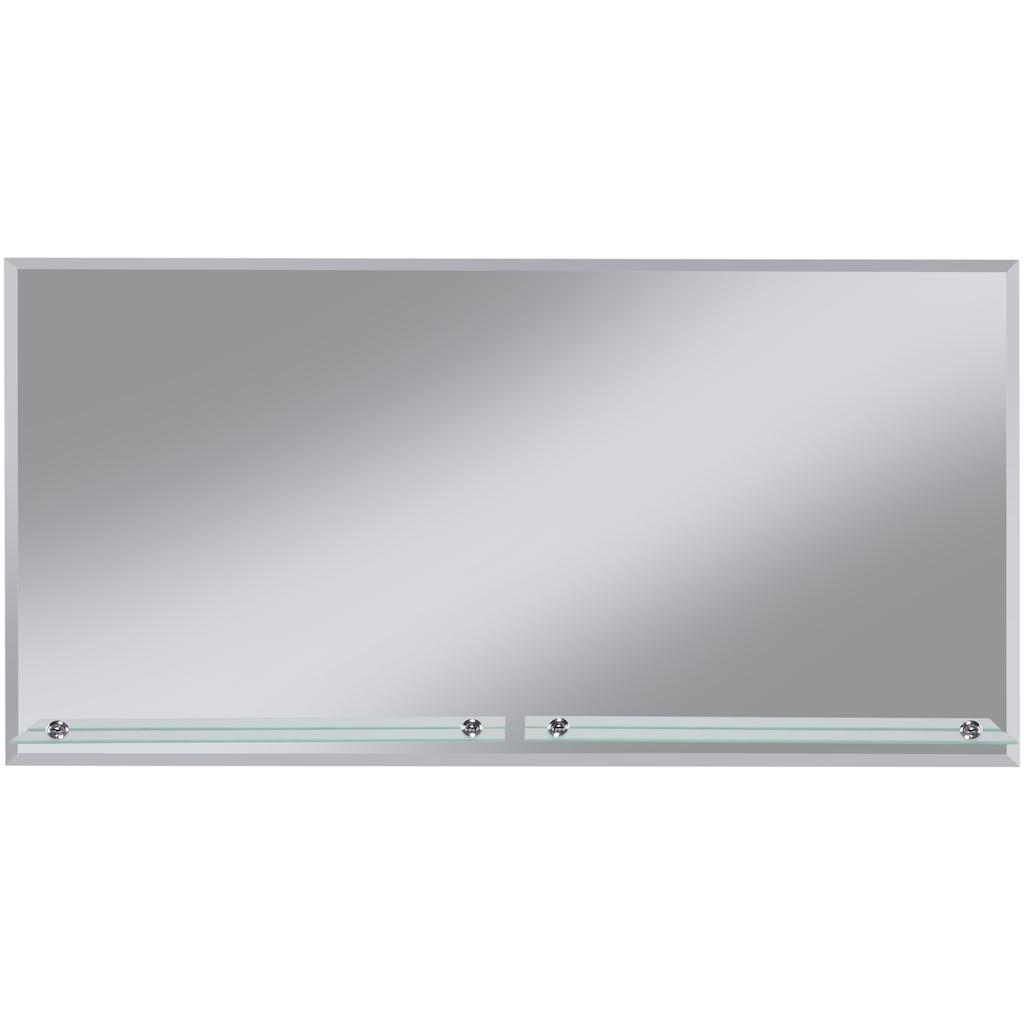 welltime Badspiegel »Flex«, 120 x 60 cm, mit Glasablage und Facettenschliff