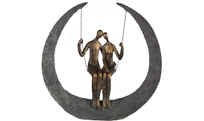 Casablanca by Gilde Dekofigur »Skulptur Swing, bronzefarben/grau«, Dekoobjekt, Höhe... kaufen