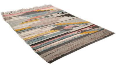 THEKO Teppich »Nomadic 3912«, rechteckig, 7 mm Höhe, handgewebt, mit Fransen, Wohnzimmer kaufen