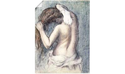 Artland Wandbild »Frau beim Abtrocknen (Femme s'essuyant)« kaufen