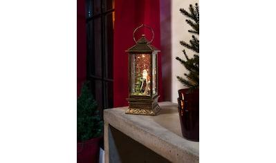 KONSTSMIDE LED Laterne, LED-Modul, 1 St., Warmweiß, LED Schneelaterne mit Weihnachtsmann kaufen