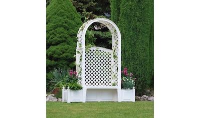 KHW Gartenbank »Amsterdam«, Kunststoff, 174x49x207 cm, weiß kaufen
