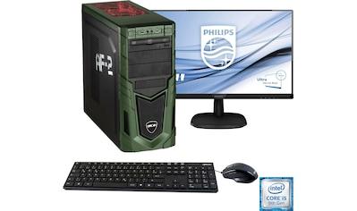 Hyrican »Military Gaming 6480 + Philips 243V7Q« PC - Komplettsystem (Intel, Core i5, GeForce) kaufen