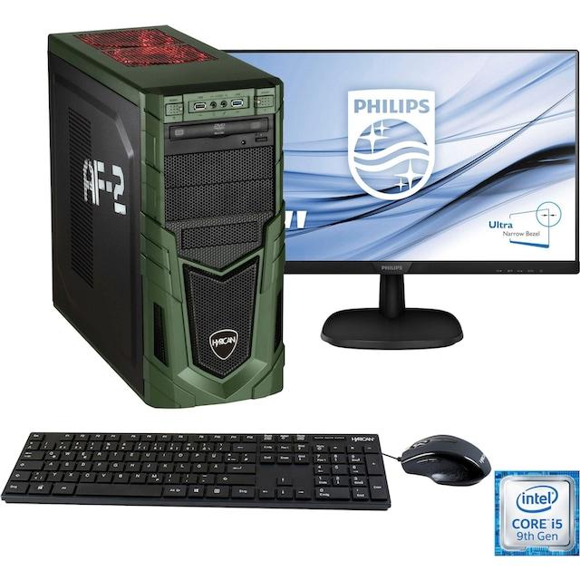Hyrican »Military Gaming 6480 + Philips 243V7Q« PC-Komplettsystem (Intel, Core i5, GeForce)