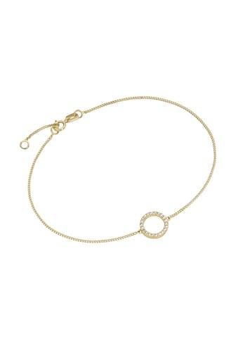 Luigi Merano Armband »Mittelteil Ring mit Zirkonia, Gold 375« kaufen