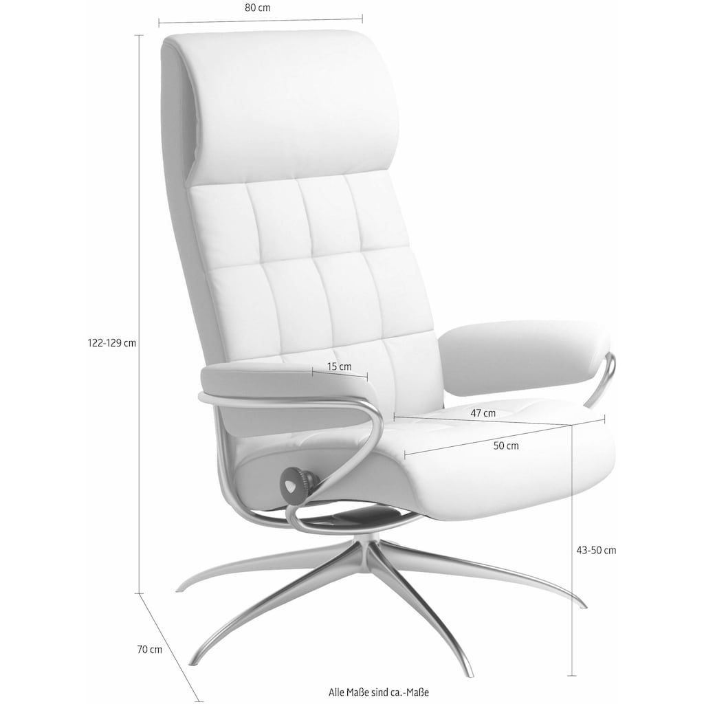 Stressless® Relaxsessel »London«, High Back, mit Home Office Base, Gestell Chrom