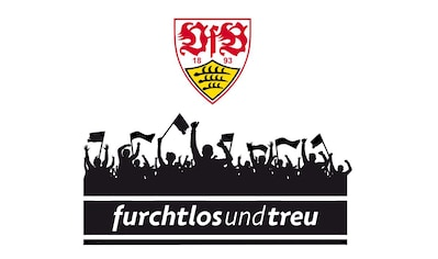 Wall-Art Wandtattoo »VfB Stuttgart Fans mit Logo« kaufen