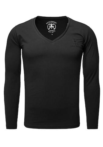 Akito Tanaka Langarmshirt, Basic Form mit Logostickerei kaufen