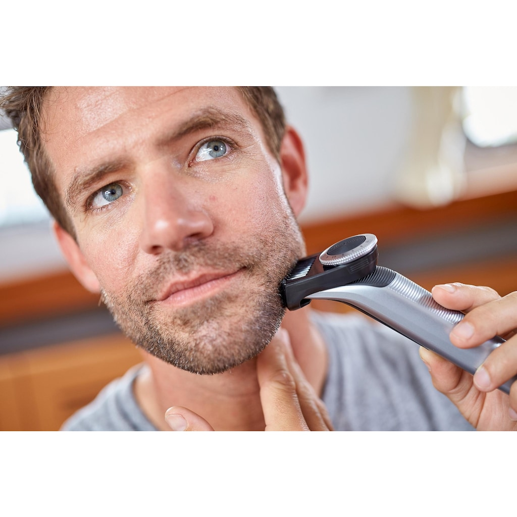Philips Elektrorasierer »OneBlade Pro QP6520/30«, 1 St. Aufsätze, SmartClick-Präzisionstrimmer, Trimmen, Stylen und Rasieren jeder Bartlänge