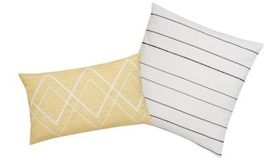 andas Kissenhüllen »Esta«, (2 St., 1x 40x40cm-1x 30x50cm), mit Zick-Zack-Muster und Streifen kaufen