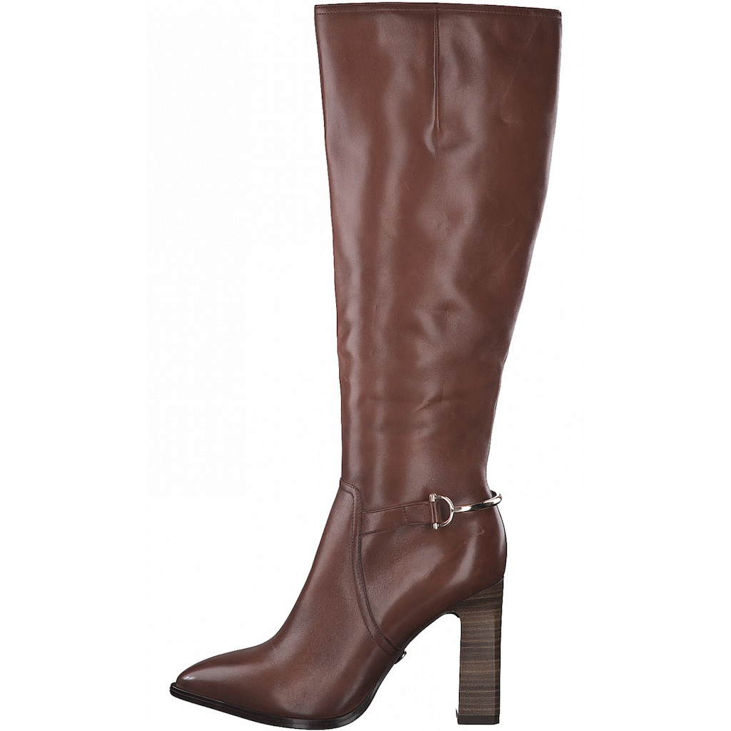 Tamaris High-Heel-Stiefel »Heart & Sole«, mit goldfarbenen Details