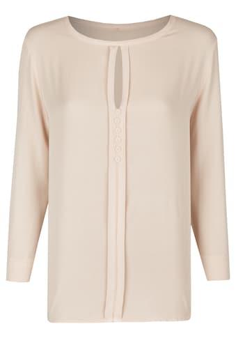 Heimatliebe Bluse mit Rundhalsausschnitt, teilgeknöpft kaufen