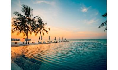 PAPERMOON Fototapete »Sunset on Maldives«, Vlies, in verschiedenen Größen kaufen