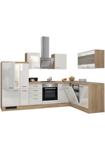 Flex-Well Küchenzeile »Florenz«, mit E-Geräte, Breite 310 x 170 cm kaufen