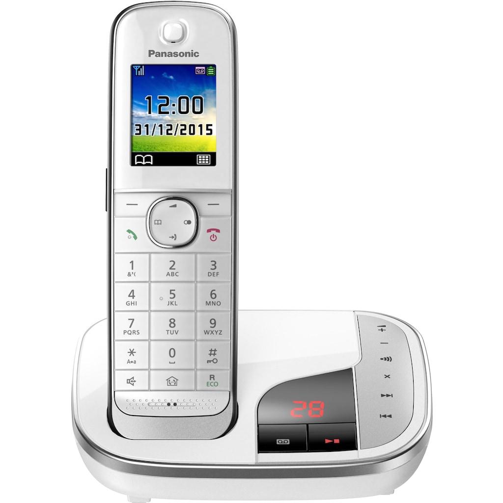 Panasonic Schnurloses DECT-Telefon »KX-TGJ320«, (Mobilteile: 1), mit Anrufbeantworter, Weckfunktion, Freisprechen