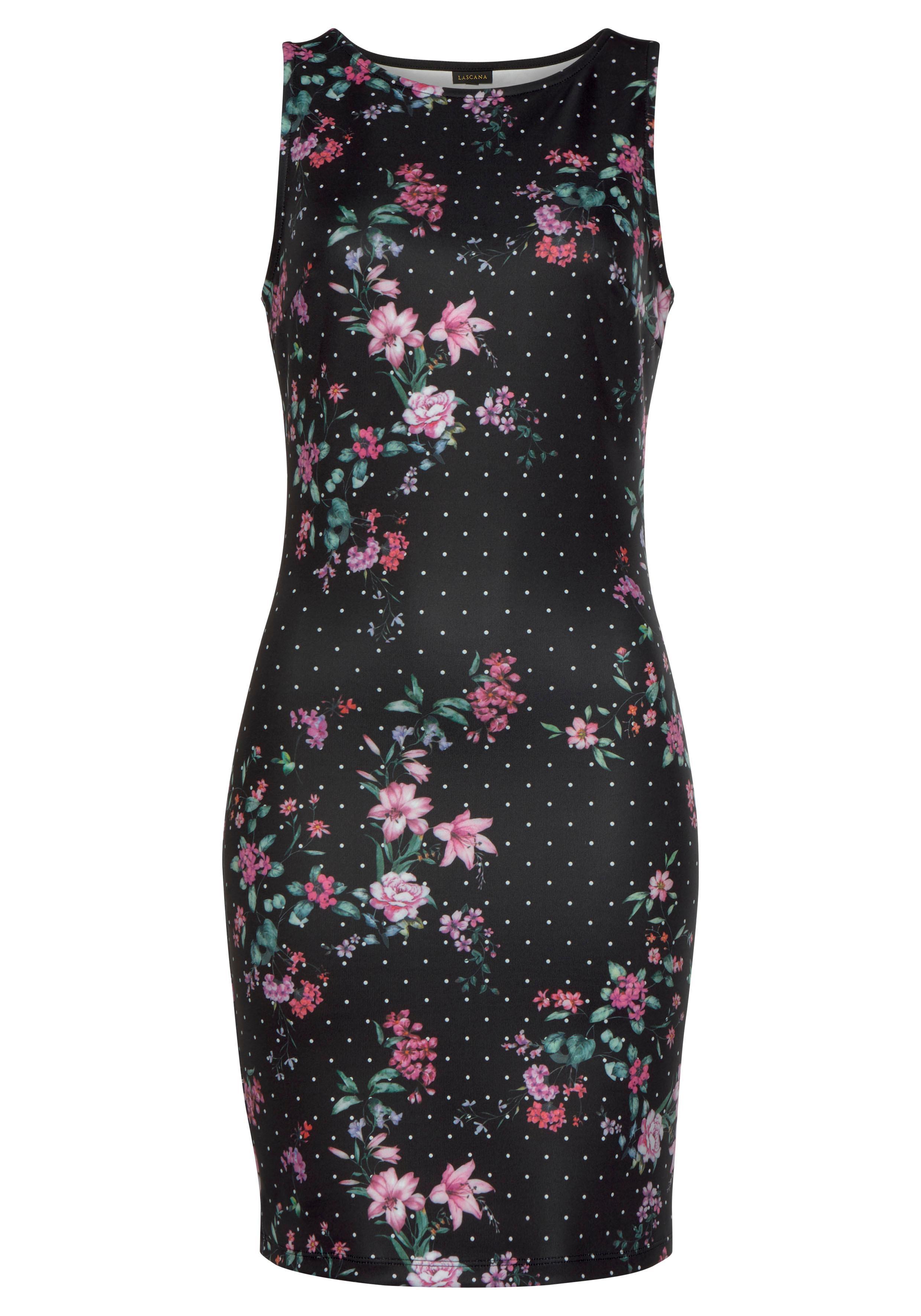 e2cea383306a47 LASCANA Scuba-Kleid in schmaler Form Sommer 2019