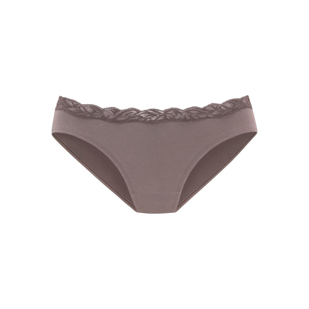 LASCANA Bikinislip, mit floraler Spitze