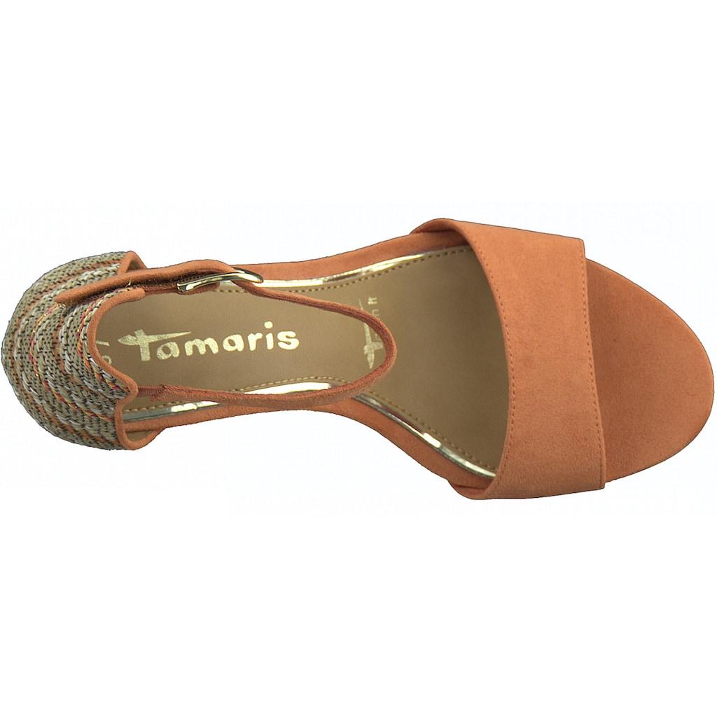 Tamaris Sandalette, mit Kontrast-Muster