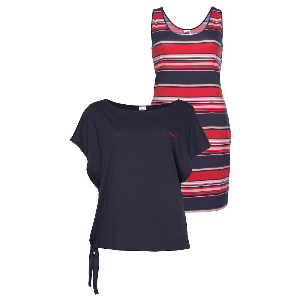 KangaROOS Jerseykleid, (Set, 2 tlg., mit T-Shirt), mit Stretchanteil