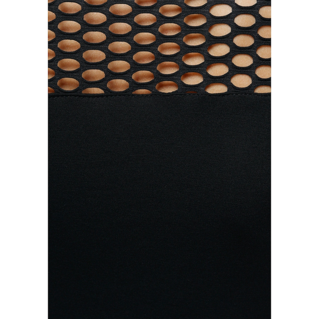Melrose Rundhalsshirt, mit Lochmuster und Zierkette - NEUE KOLLEKTION