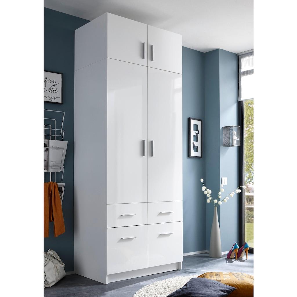 Schlafkontor Kleiderschrank »Hagen«, mit Aufsatz und Schubkästen