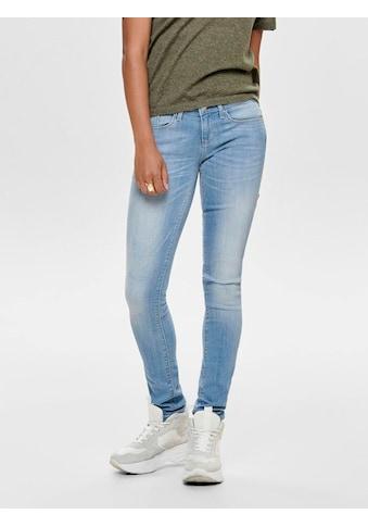 Only Skinny-fit-Jeans »ONLCORAL«, mit leichten Destroyed Effekten kaufen