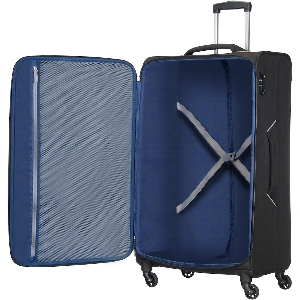 American Tourister® Weichgepäck-Trolley »Holiday Heat, 79 cm, black«, 4 Rollen