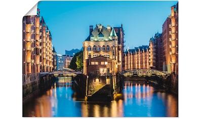 Artland Wandbild »Hamburg Wasserschloss in Speicherstadt 2« kaufen