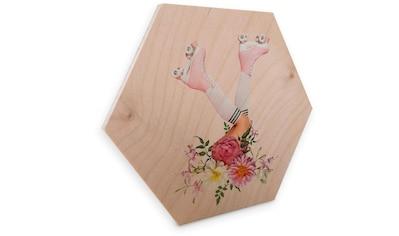 Wall-Art Holzbild »Rollerblades Blumen Holzbild«, (1 St.) kaufen