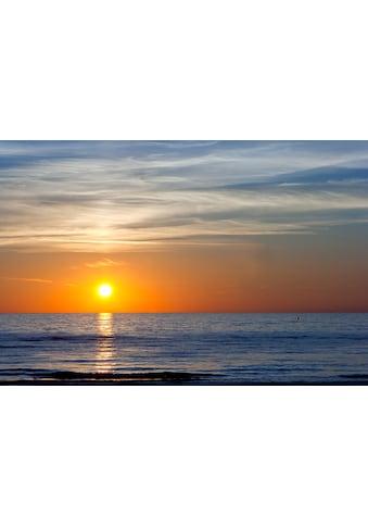 Papermoon Fototapete »Sonnenuntergang an der Ostsee«, Vliestapete, hochwertiger... kaufen