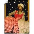 Artland Wandbild »Frau Holle«, Geschichten & Märchen, (1 St.), in vielen Größen & Produktarten -Leinwandbild, Poster, Wandaufkleber / Wandtattoo auch für Badezimmer geeignet