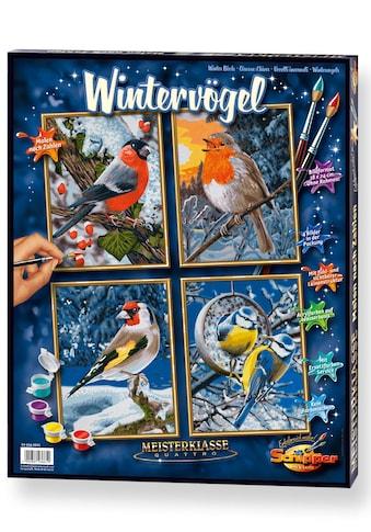 Schipper Malen nach Zahlen »Meisterklasse Quattro - Wintervögel«, Made in Germany kaufen