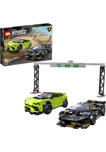 "LEGO® Konstruktionsspielsteine ""Lamborghini Urus ST - X & Lamborghini Huracán Super Trofeo EVO (76899), LEGO® Speed Champions"", Kunststoff, (663 - tlg.) kaufen"