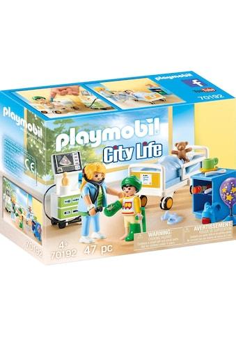 "Playmobil® Konstruktions - Spielset ""Kinderkrankenzimmer (70192), City Life"", Kunststoff, (47 - tlg.) kaufen"