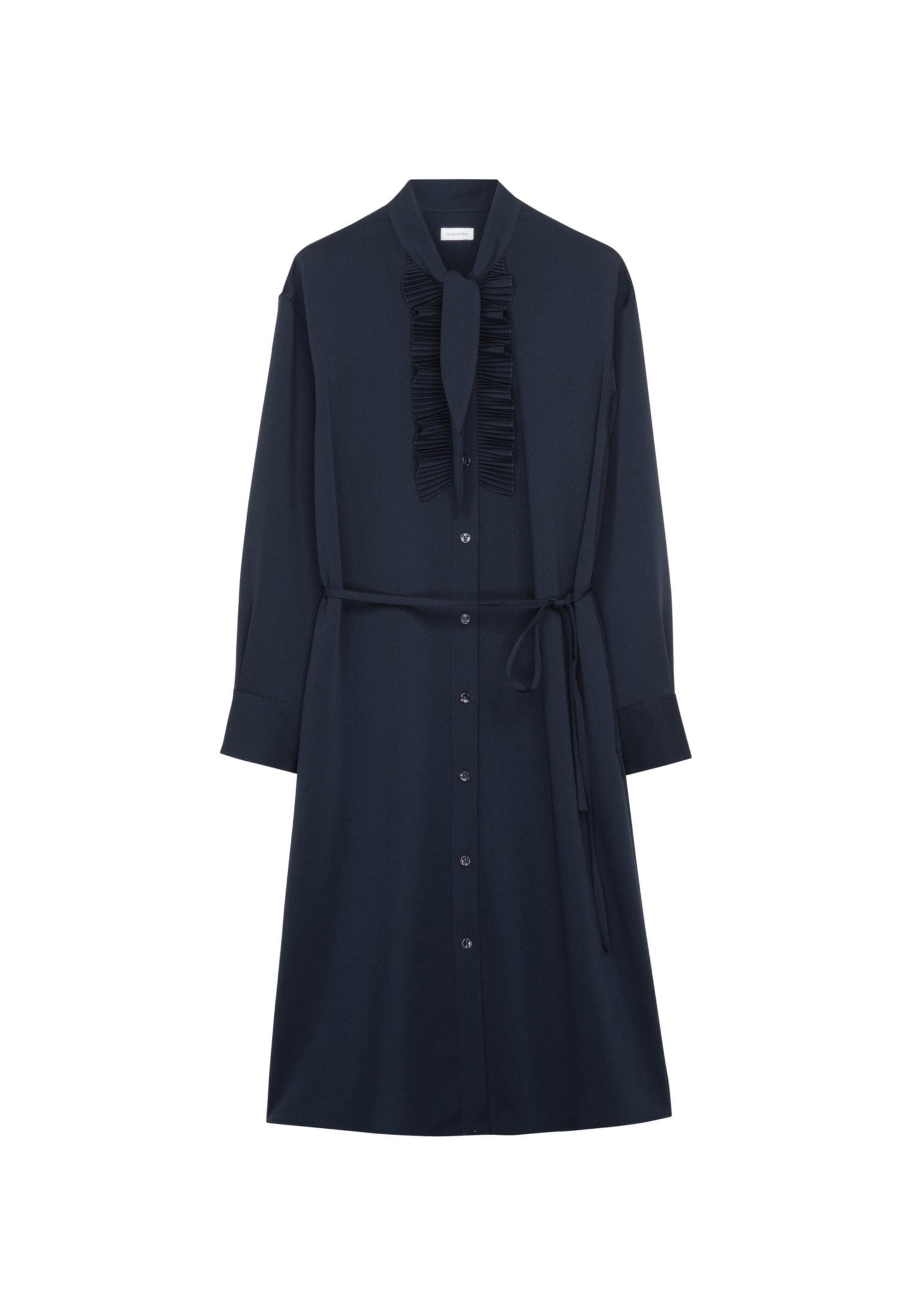 seidensticker -  Sommerkleid Schwarze Rose, Langarm Kragen Uni