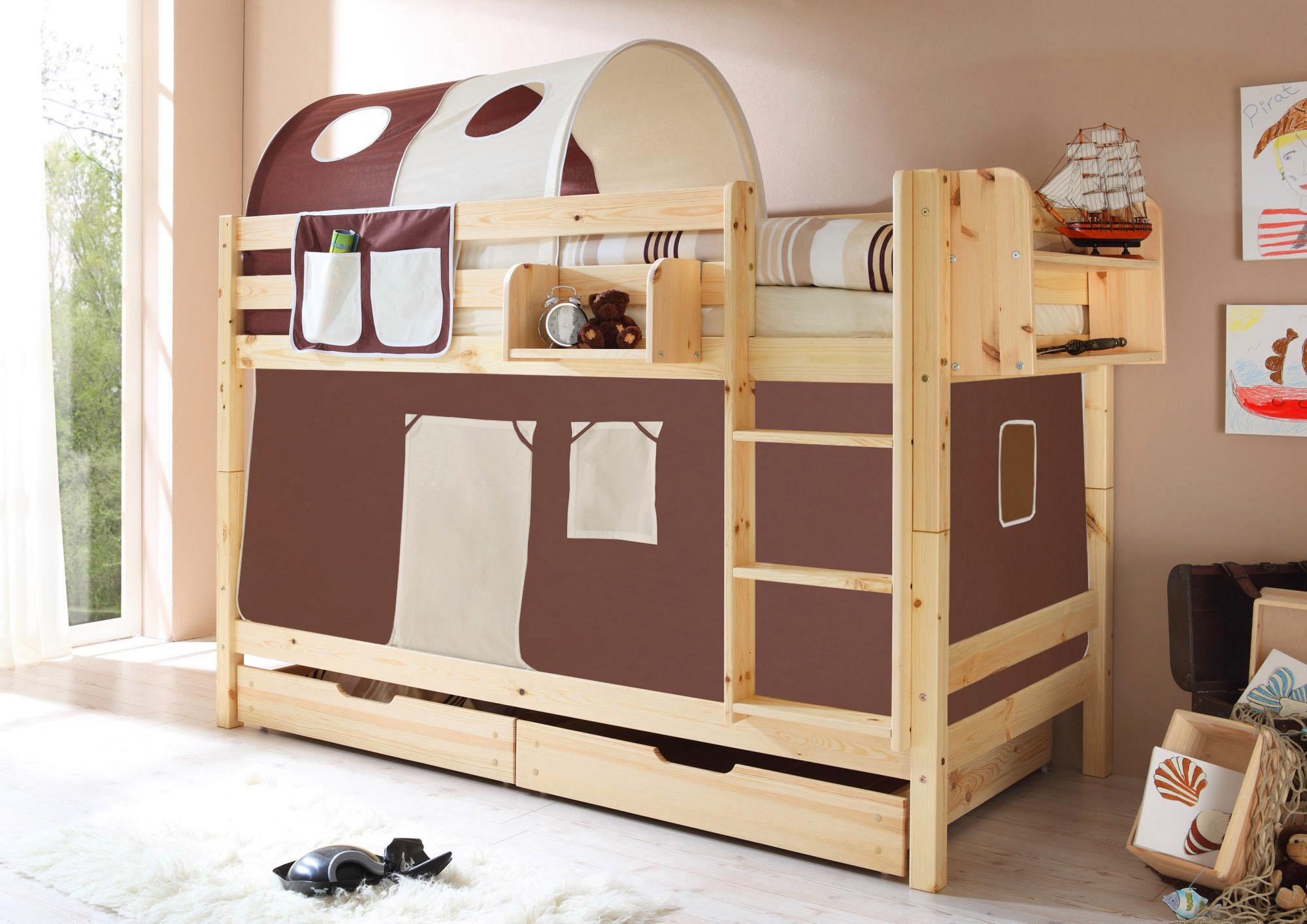 Etagenbett Tica : Ticaa einzel etagenbett »marcel« mit textil set kiefer massiv