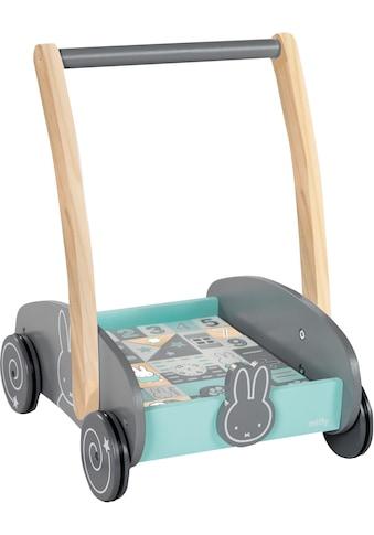 roba® Lauflernwagen »Miffy«, mit 35-teiligem Holzbausteine-Set kaufen