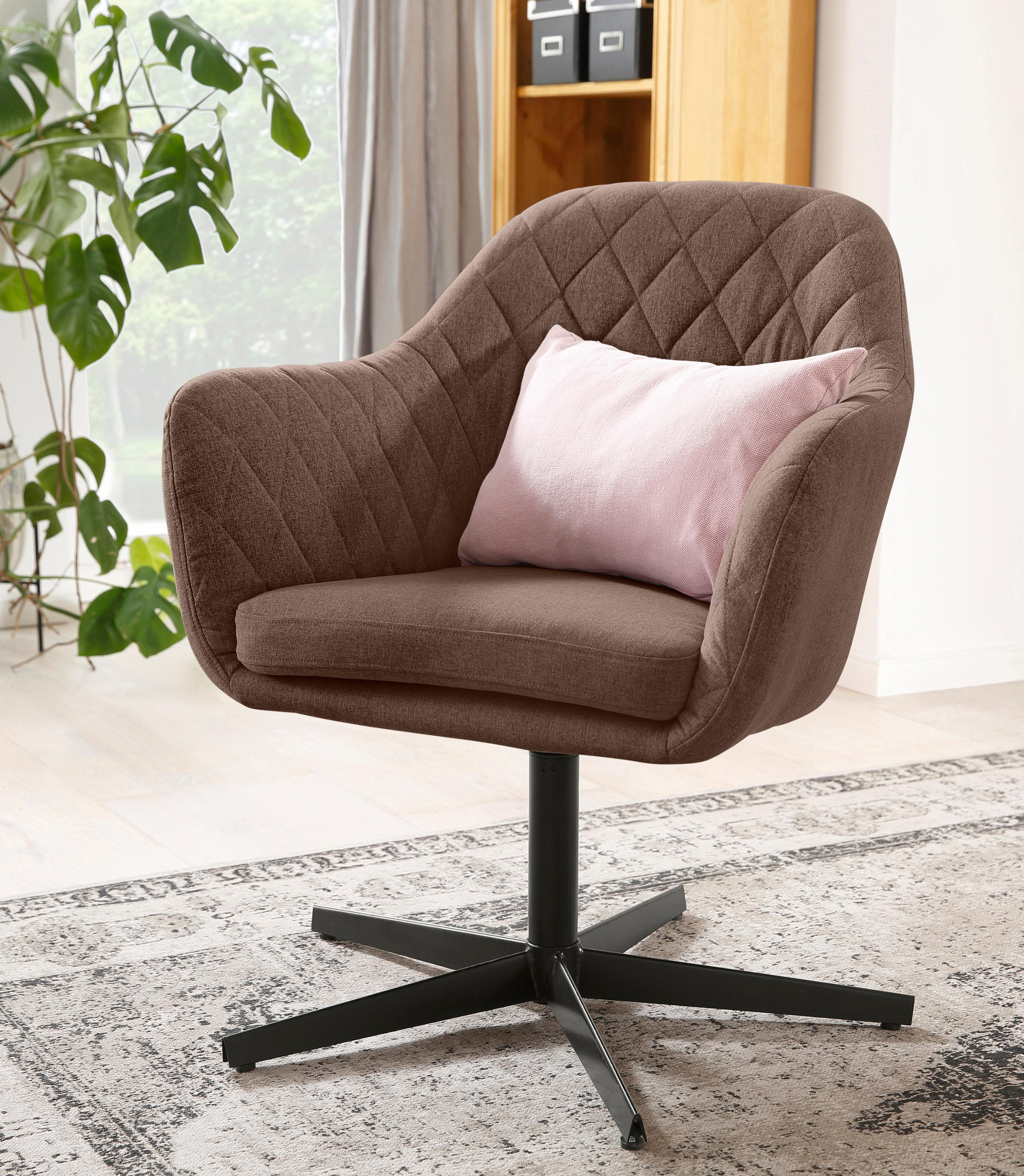 Home affaire Lounge-Sessel Alabama mit Metallgestell drehbar