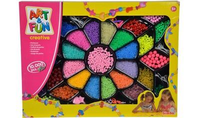 SIMBA Kreativset »Art&Fun Perlen Geschenkset«, (Set), Trainiert Geschicklichkeit und... kaufen