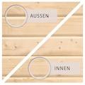 KONIFERA Set: Gartenhaus »Schloßsee 7«, BxT: 575x333 cm, mit Anbau inkl. Seiten- und Rückwand