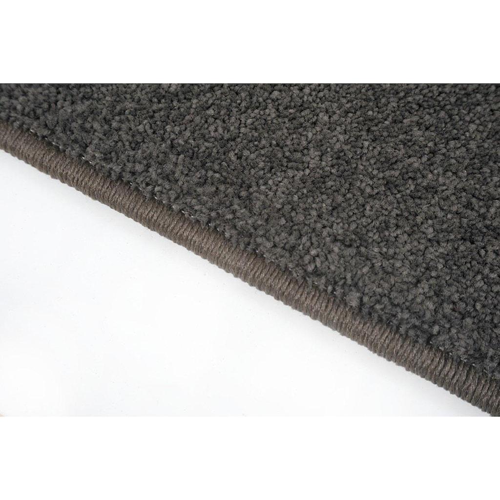 Living Line Läufer »Burbon«, rechteckig, 10 mm Höhe, Teppich-Läufer, Velours, Uni-Farben